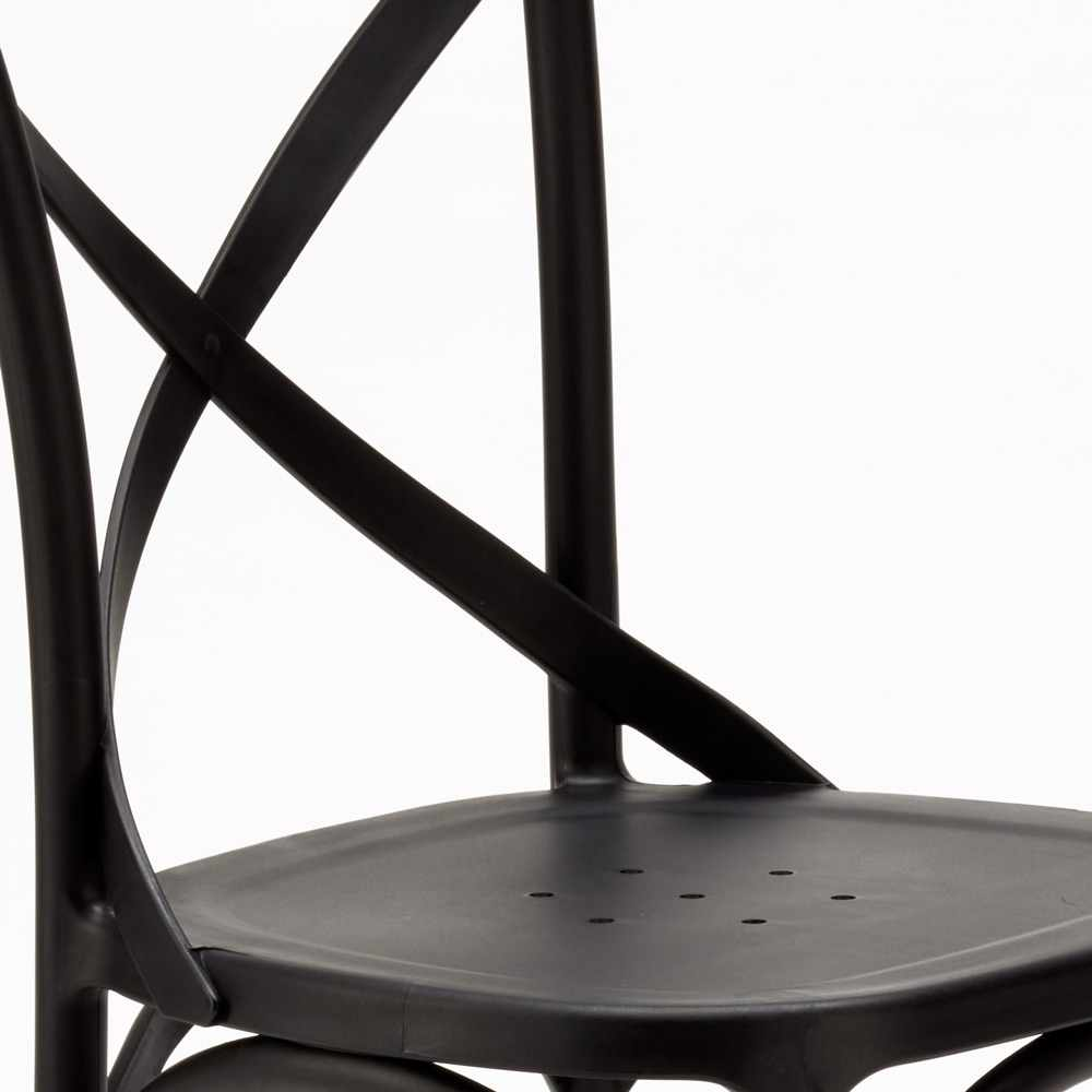 Stock-20-chaises-restaurant-bar-polypropylene-VINTAGE-brasserie miniatuur 20