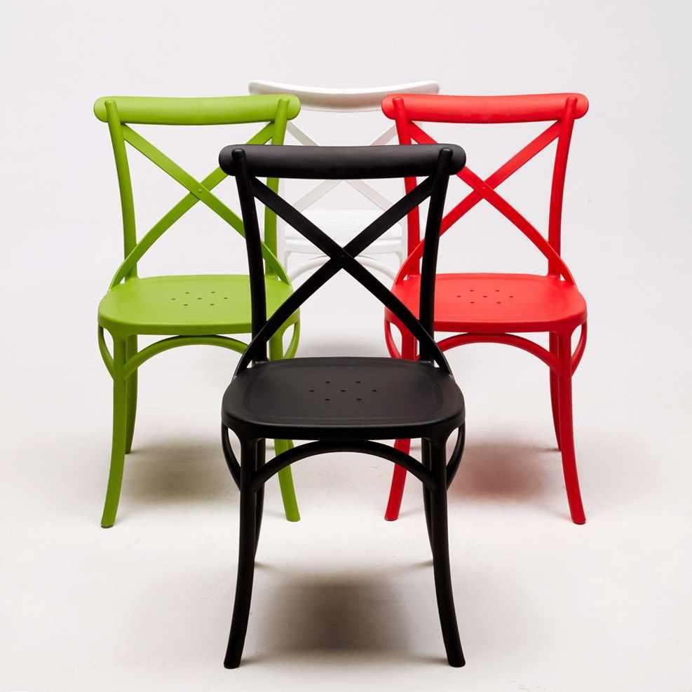 Stock-20-chaises-restaurant-bar-polypropylene-VINTAGE-brasserie miniatuur 15