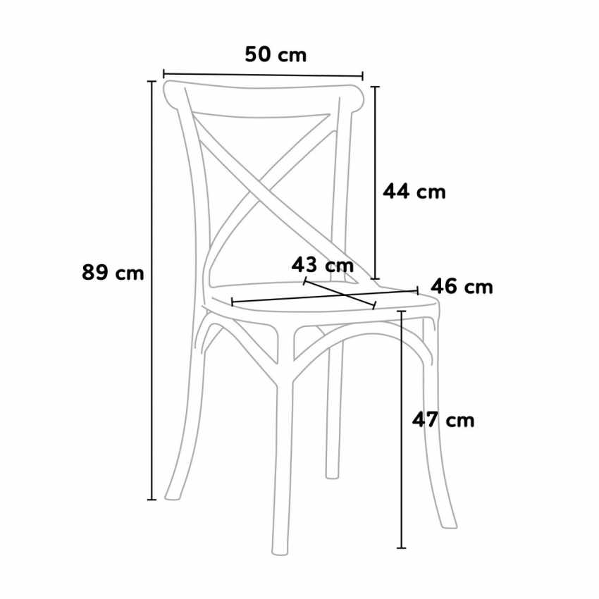 Lot of 20 Polypropylene Design Chair Vintage Style Home Interiors Restaurants CROSS - price