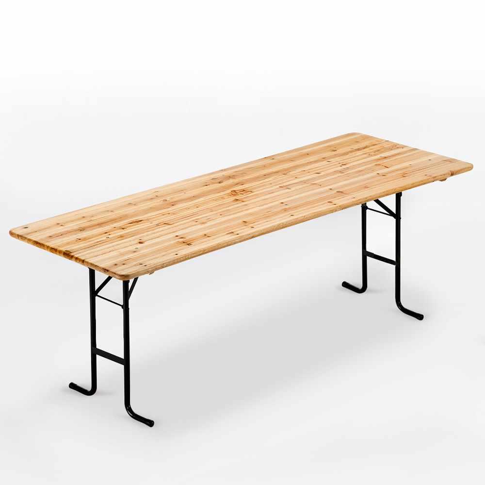 Stock 10 Tavoli in legno per set birreria 220x80 feste giardino