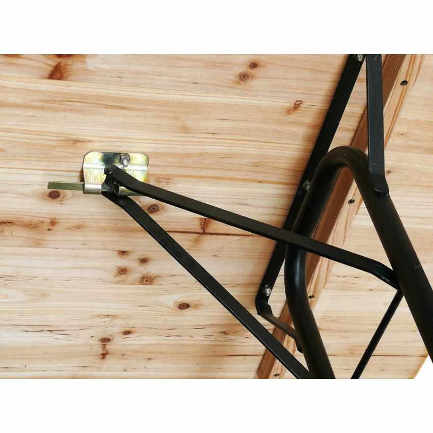Set 10 Tavoli in legno per set birreria 220x80 feste giardino - immagine