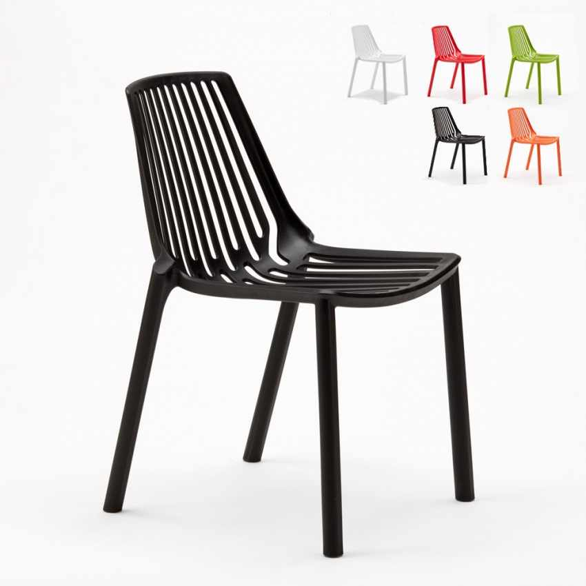 Indoor and Outdoor Chair for Home Interiors and Restaurants Stackable LINE - discount