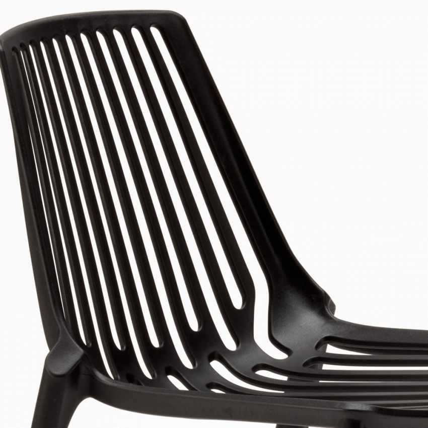 Indoor and Outdoor Chair for Home Interiors and Restaurants Stackable LINE - forniture