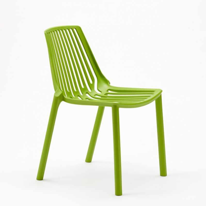 Sedie esterni ed interni per bar ristorante e giardino impilabile in polipropilene Design LINE - new
