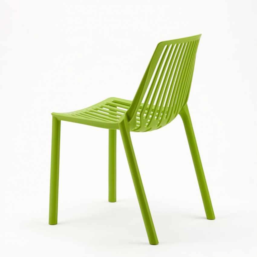 Sedie esterni ed interni per bar ristorante e giardino impilabile in polipropilene Design LINE - offert