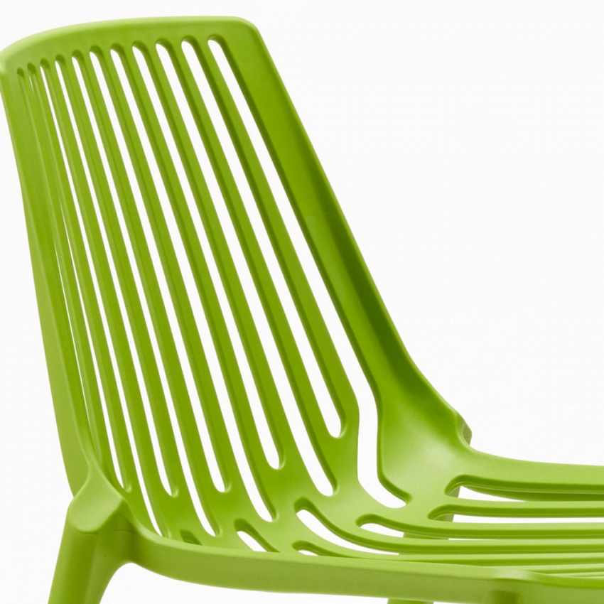 Sedie esterni ed interni per bar ristorante e giardino impilabile in polipropilene Design LINE - details