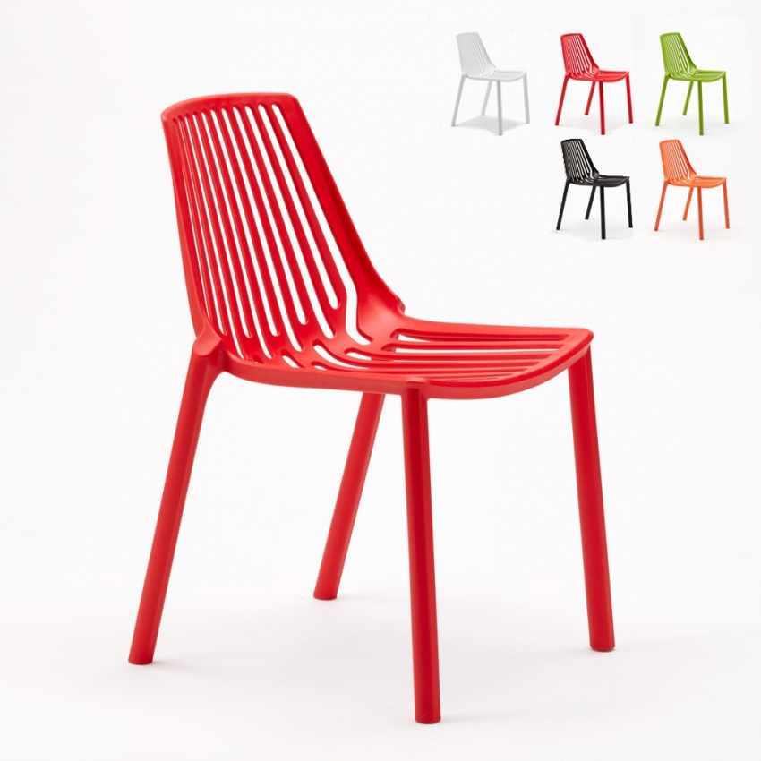 Sedie esterni ed interni per bar ristorante e giardino impilabile in polipropilene Design LINE - promo