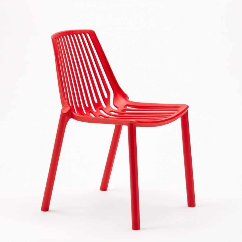 Sedie esterni ed interni per bar ristorante e giardino impilabile in polipropilene Design LINE - outdoor