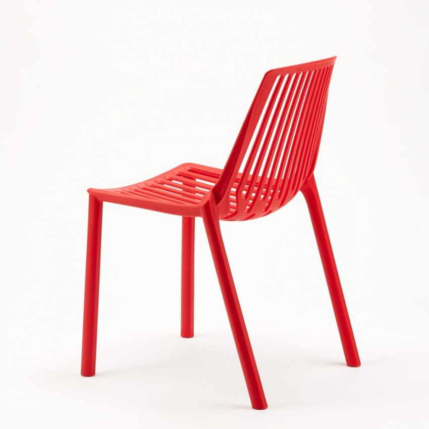 Sedie esterni ed interni per bar ristorante e giardino impilabile in polipropilene Design LINE - best