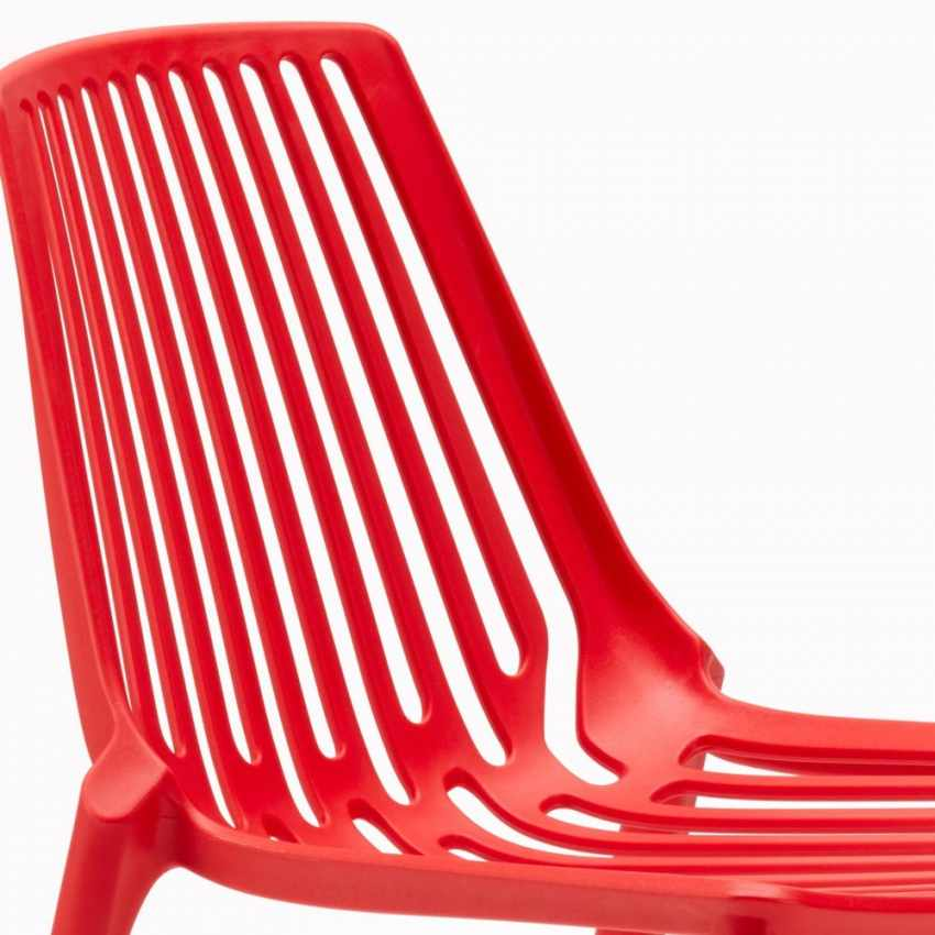 Sedie esterni ed interni per bar ristorante e giardino impilabile in polipropilene Design LINE - indoor