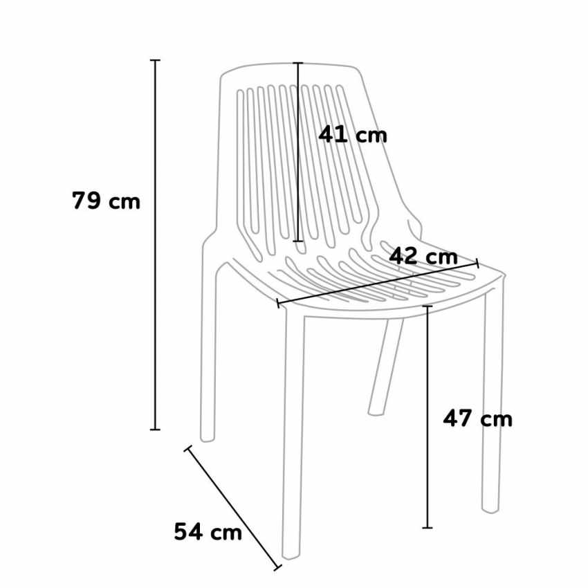 Indoor and Outdoor Chair for Home Interiors and Restaurants Stackable LINE - new