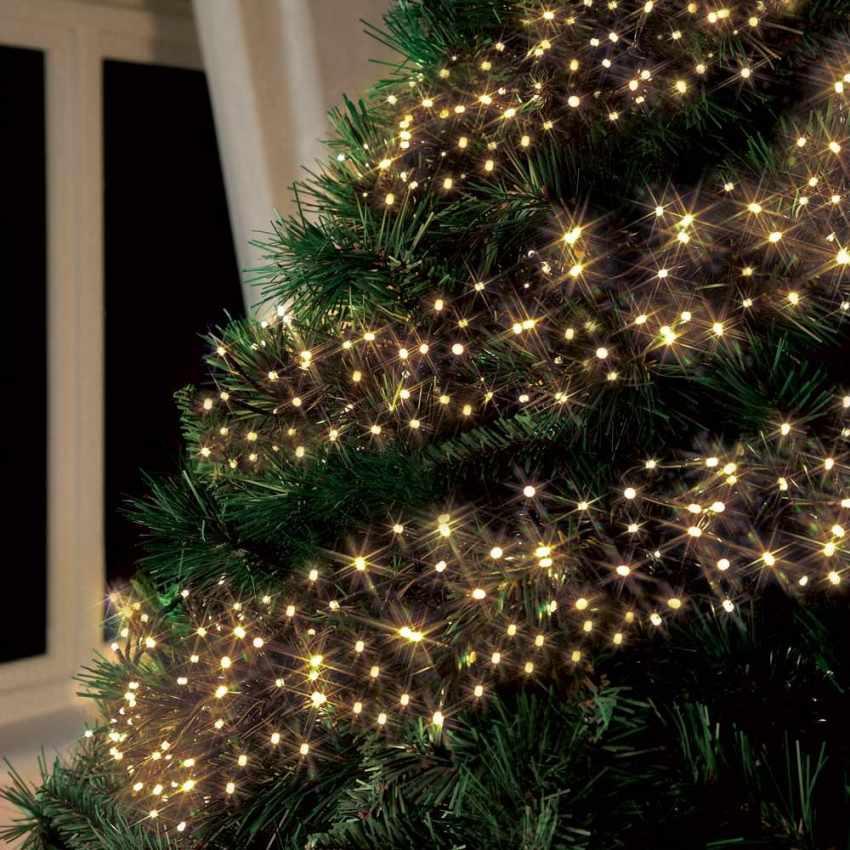 Luci Natale Esterno.Luci Di Natale Esterno Led Energia Solare Batteria Lunga Durata Pannello 50 Led Albero Balcone