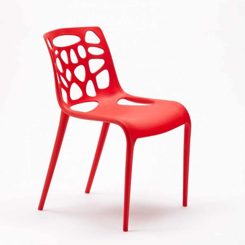Sedia in Polipropilene per Interni ed Esterni dal Design Moderno GELATERIA - promo