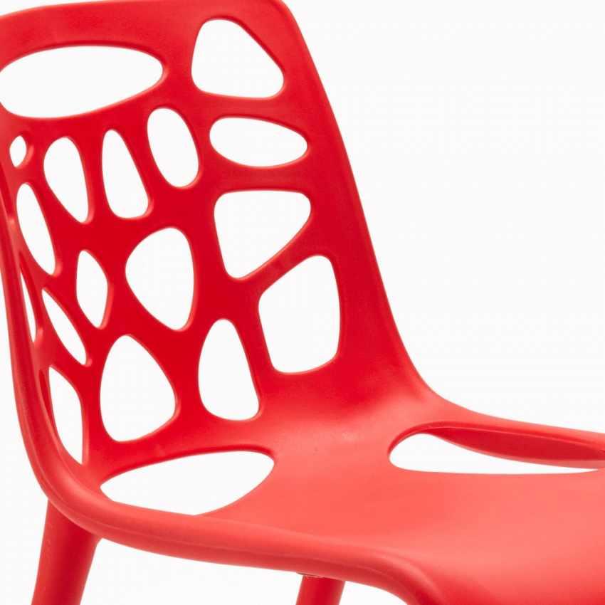 Sedia in Polipropilene per Interni ed Esterni dal Design Moderno GELATERIA - migliore