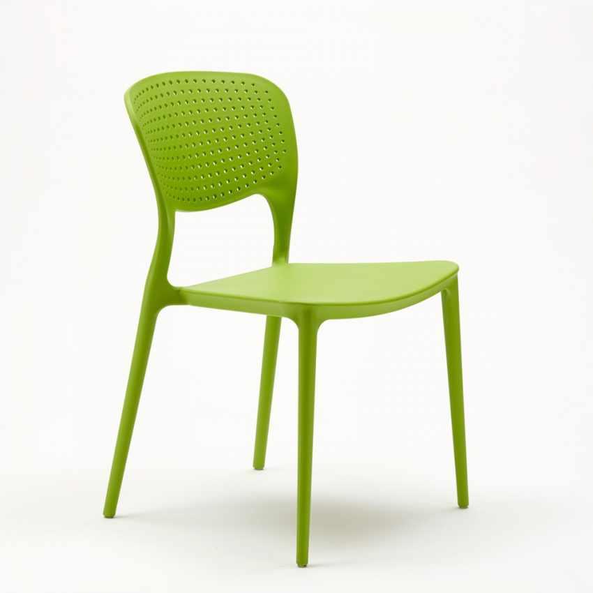 Stock 20 sedie polipropilene colorate impilabile GARDEN GIULIETTA bar ristorante gelateria - forniture