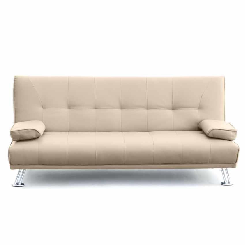schlafsofa sofabett couch klappsofa kunstleder 2 sitzer. Black Bedroom Furniture Sets. Home Design Ideas