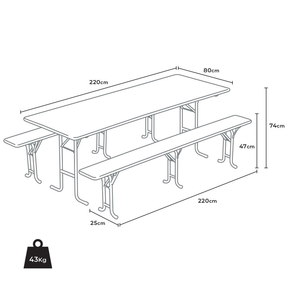 tavolo size