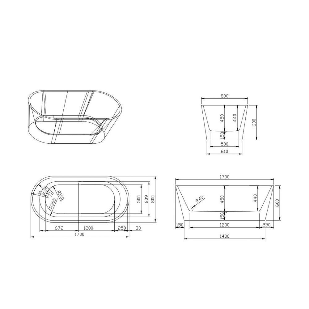 Dimensioni Vasca Da Bagno Classica.Zante Vasca Da Bagno Freestanding Design Classico Indipendente