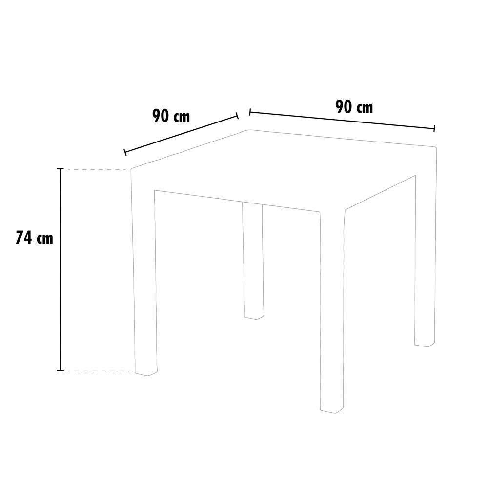 Tavoli bar Polyrattan quadrati 90x90 Grand Soleil GRUVYER