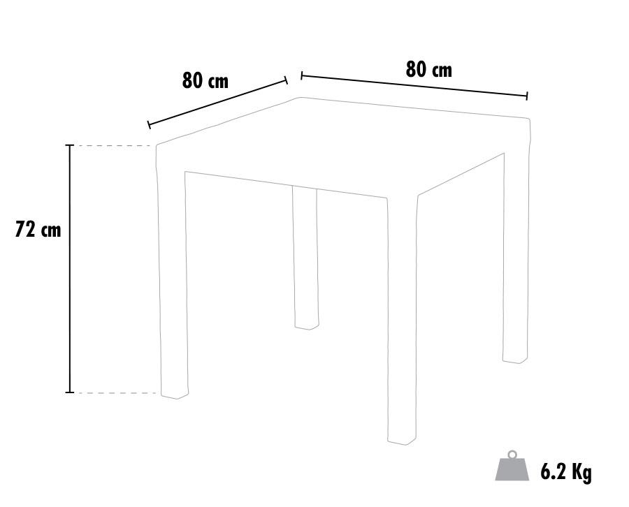 Tavoli Grand Soleil OLÈ bar Polyrattan quadrati 80x80